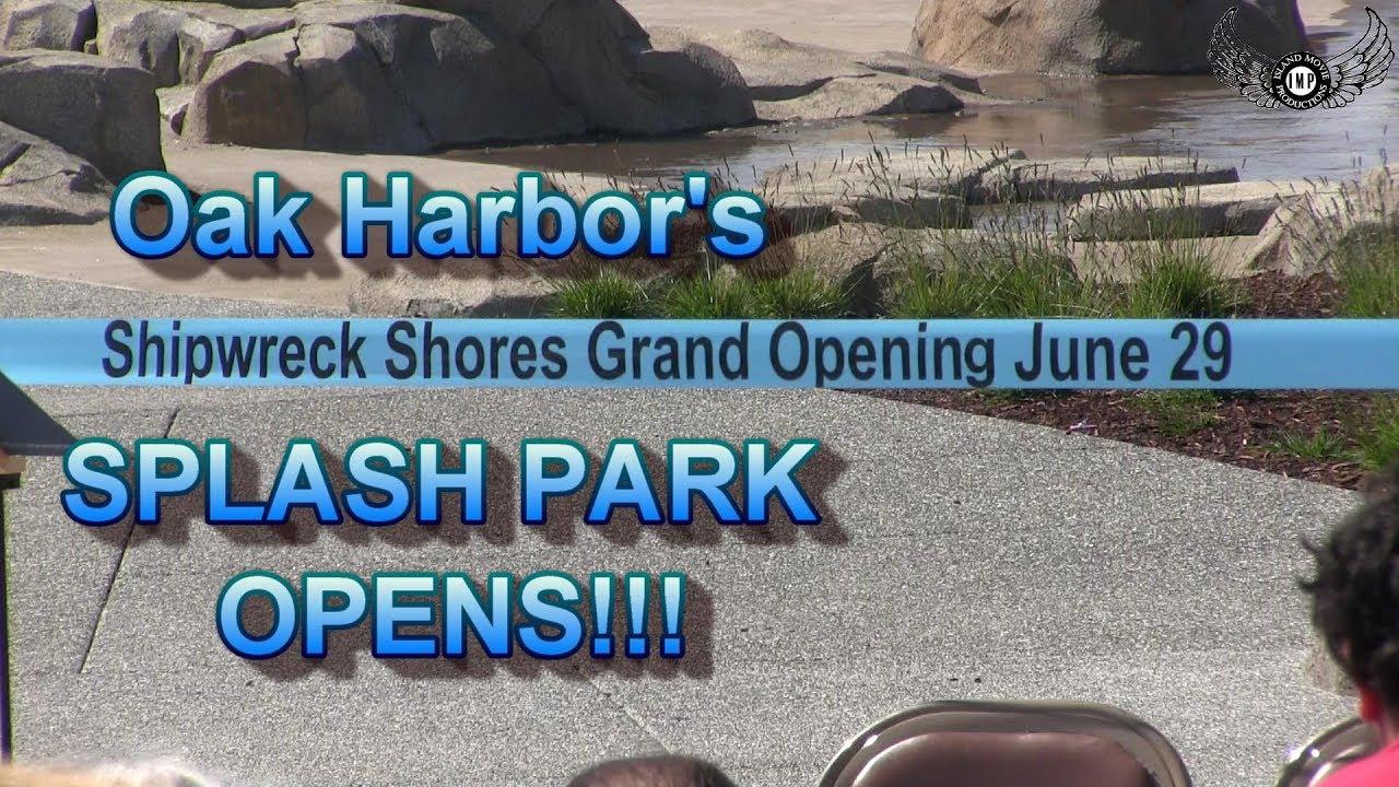 Windjammer park reopens and dignitaries speak, Ship Wreck Shores, Splash  Park