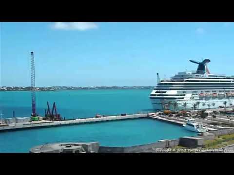 PORT BERMUDA WEBCAM TOUR YouTube - Cruise ship web cameras