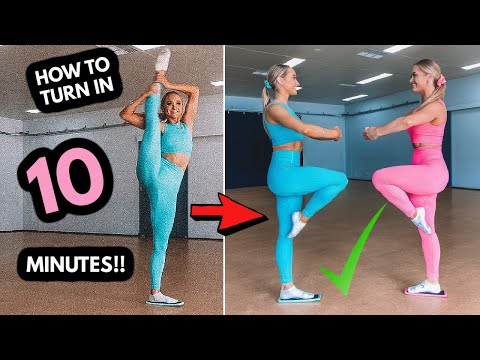 HOW to learn DANCE TURNS in 10 MINUTES!!! Beginner Tutorial!