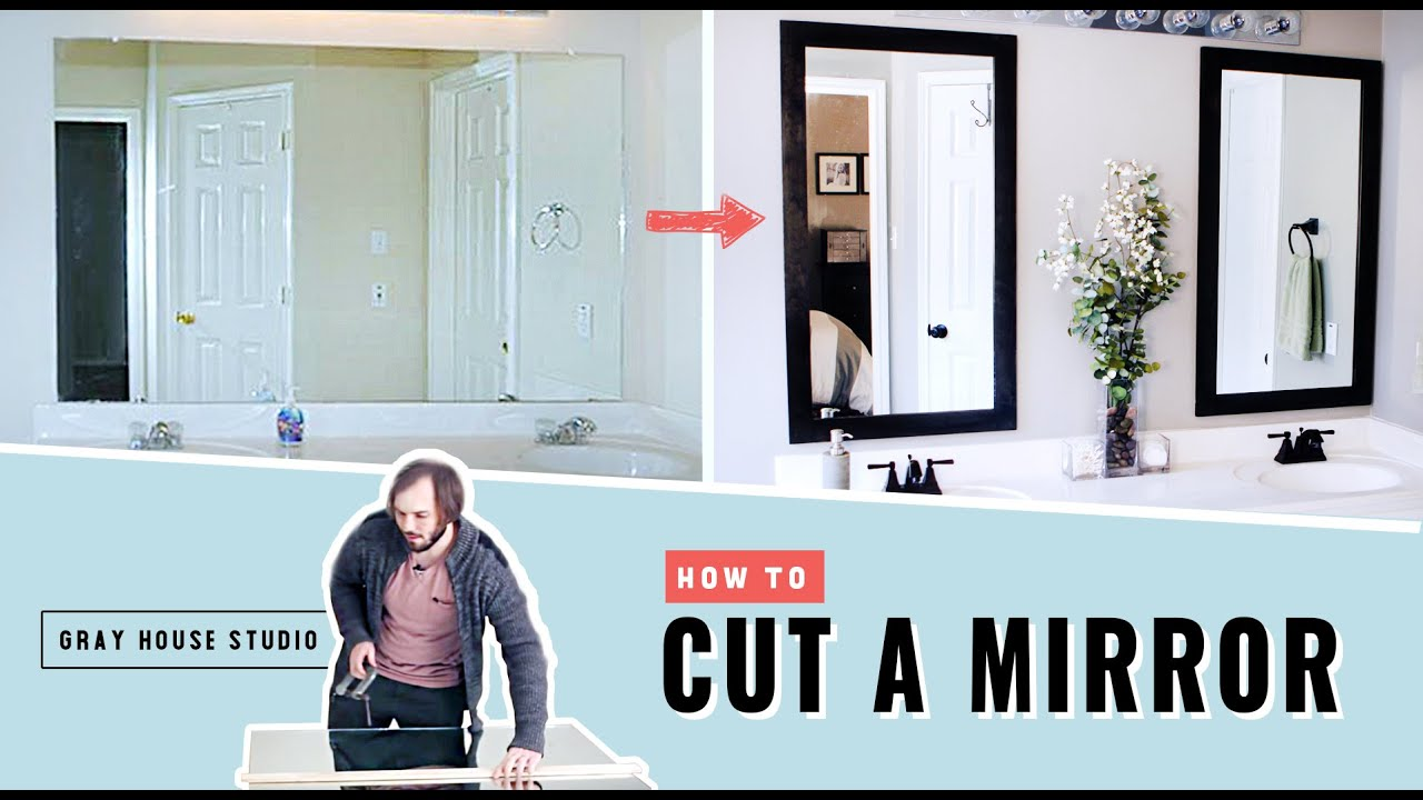 How To Cut A Mirror Youtube