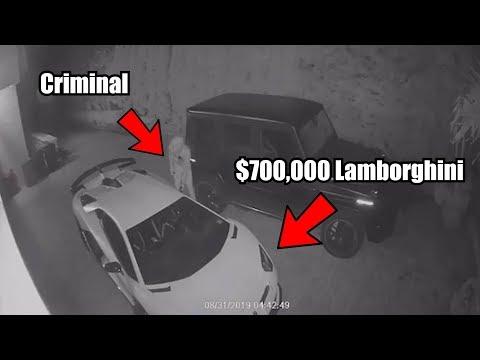 $700,000 Lamborghini THEFT Caught On Camera