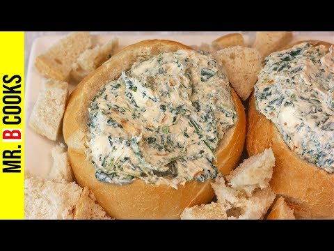 Spinach Dip | Easy Appetizer Recipes | Spinach & Onion Dip Recipe In Bread Bowl