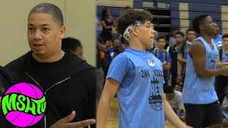 Jaythan Bosch & Zion Harmon TEAM UP with Tyronn Lue watching at NEO Youth Elite Camp