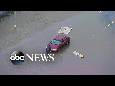 Winter storm triggers flash flooding in California