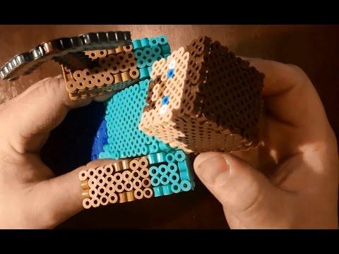 50 Subscribers Steve Minecraft 3d Perlerhama Beads