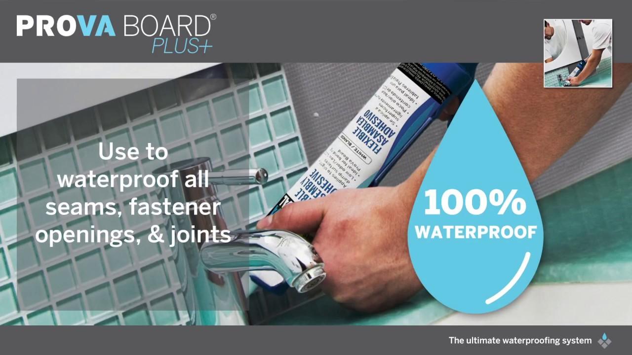 PROVA BOARD PLUS: Lightweight and Waterproof Tile Backer - YouTube
