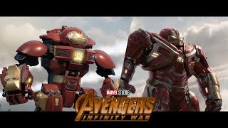 LEGO Avengers: Infinity War - Trailer 2 Stop motion - Side by side version!