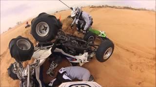 Atv pile up at Little Sahara Sand Dunes(GoPro)