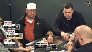 Sick Bluff with A4 vs the Field! ♠ Live at the Bike!