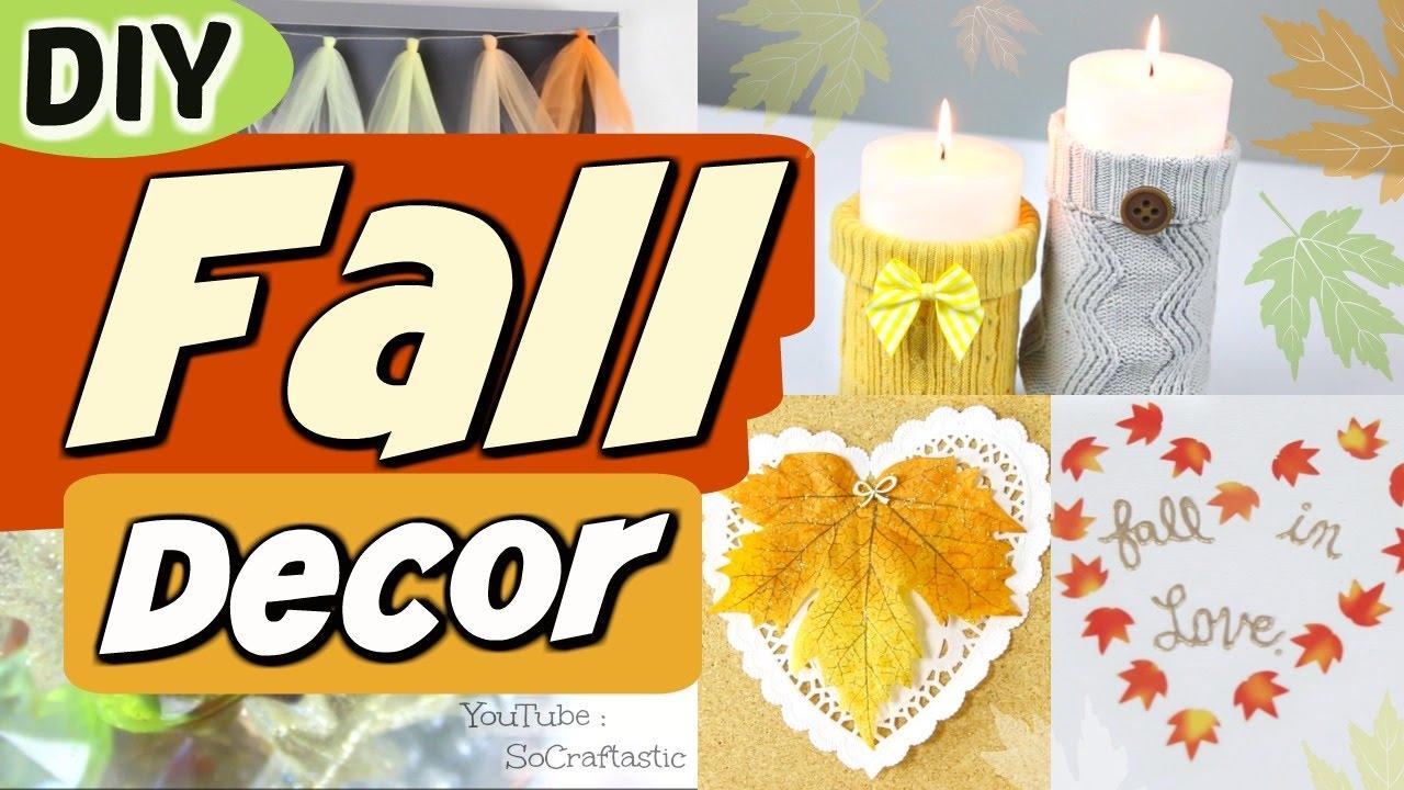 5 EASY DIY FALL ROOM DECOR IDEAS - Autumn Decorations - How To ...
