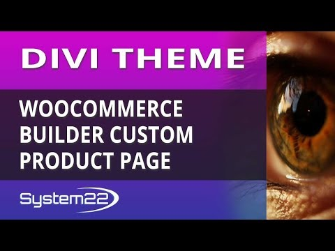 Divi Theme WooCommerce Builder Custom Product Page thumbnail