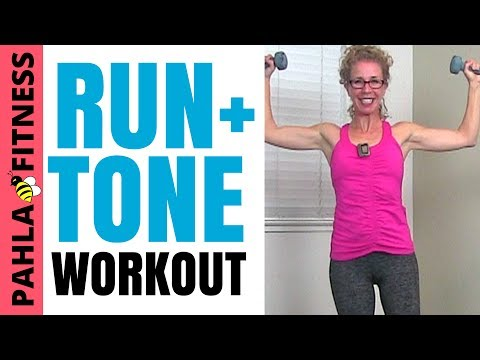 30 Minute INDOOR RUN + DUMBBELL STRENGTH High Low | FULL BOD