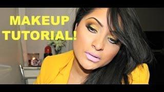 GLITTERY GOLDEN BARBIE Makeup tutorial! Thumbnail