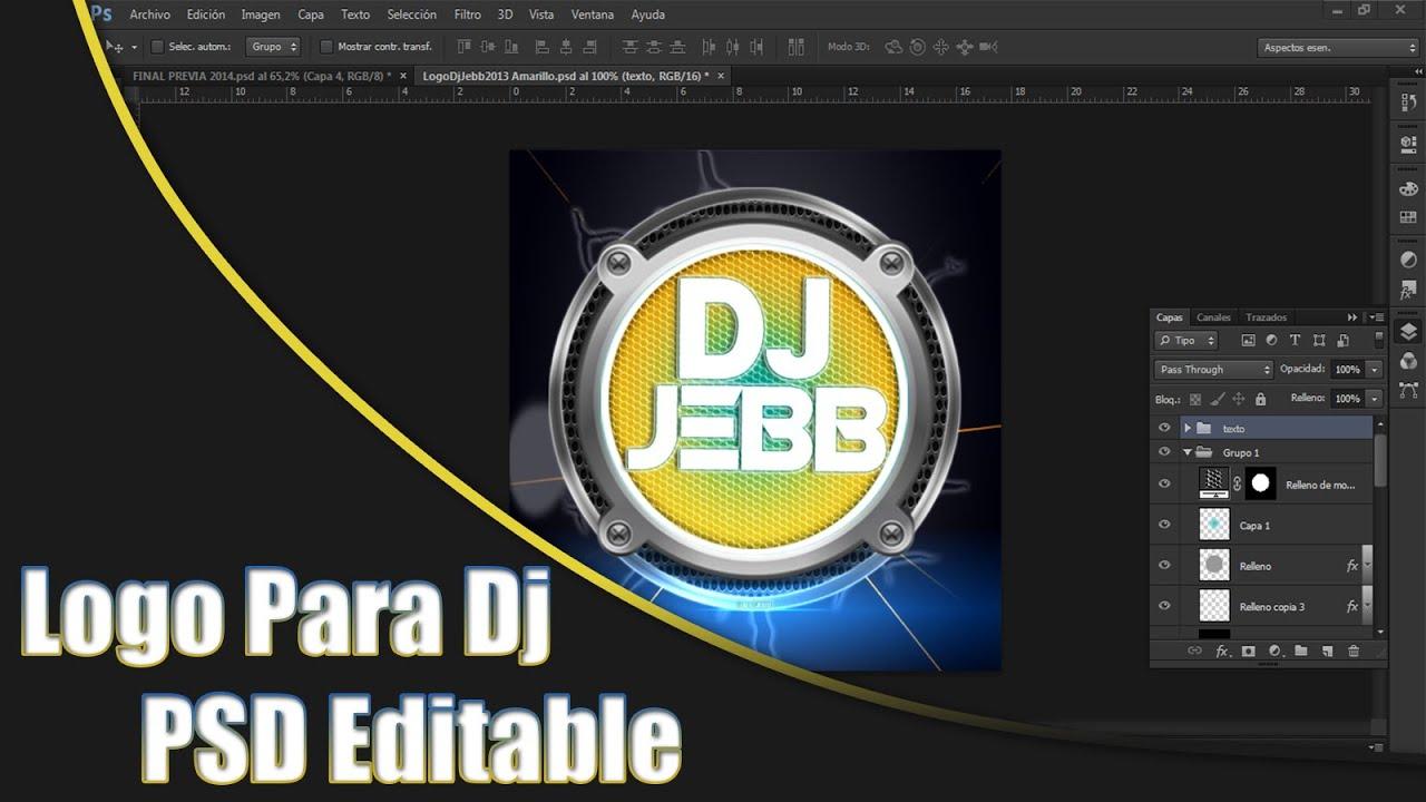 logo para dj psd editable virtualjebb 2015 youtube