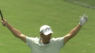Kevin Kisner jars approach for eagle at The Barclays