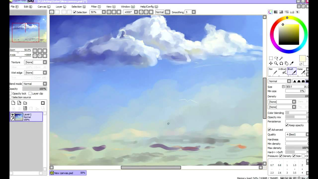 Scenery Tutorial Paint Tool Sai