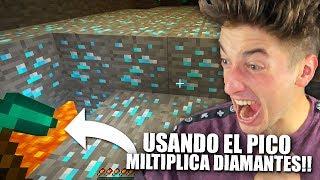 USANDO EL PICO MULTIPLICA DIAMANTES!!! MINECRAFT BYTARIFA GAMING