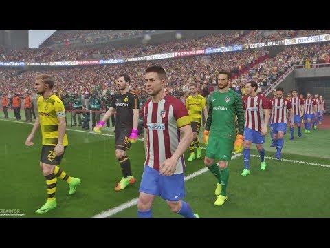 PES 2018 - Atl. Madrid vs Borussia Dortmund - Wanda Metropolitano 1080P 60FPS
