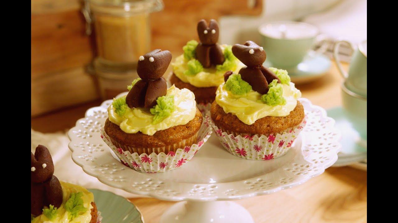 Rezept Vegane Mohren Nuss Cupcakes Von Dr Oetker Youtube