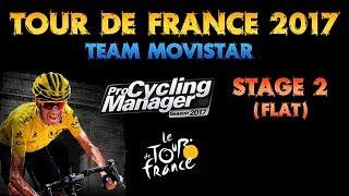 Tour de France 2017, Team Movistar, Stage 2 (Flat)