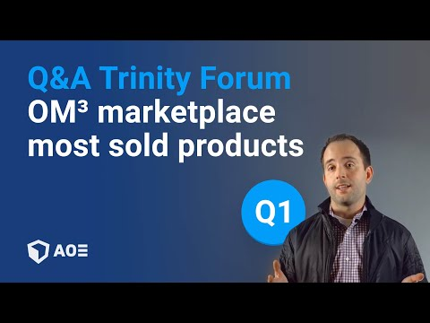 1/12: Which products are sold most through the OM³ marketplace? Trinity Forum Question 1