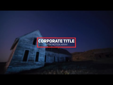 Minimal Corporate Title After Effects Templates