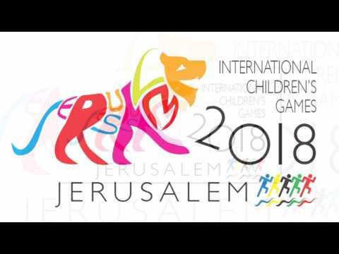 Inernational Children Games Jerusalem 2018 New Logo