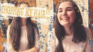 CUTTING MY OWN HAIR SHORT!! BY MYSELF! ALONE! AH