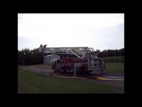 Edgerton Fire Quint 70 Aerial Master Stream Drill