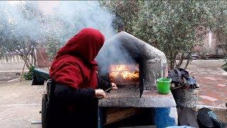 جولة في البادية و الطبيعة و تحضير خبز البادية التقليدي