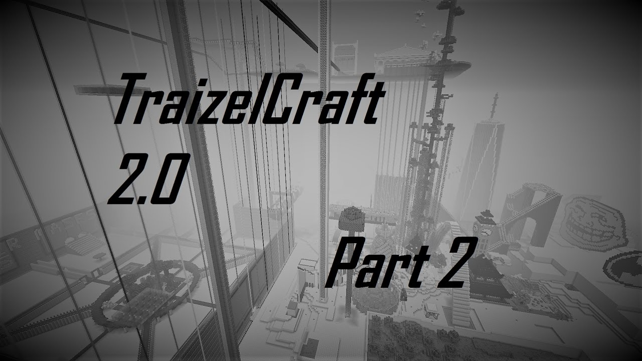 My Massive Minecraft World- 99% Built by me-TraizelCraft 2.0 tour -Pt 2