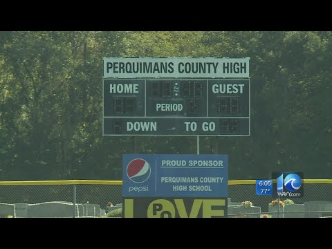 Shortage of football players at Perquimans County High
