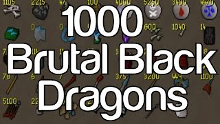loot from 1000 brutal black dragons 40 hours