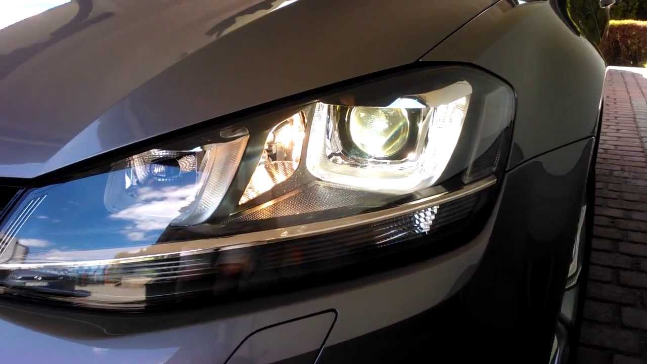 Volkswagen Golf VII 1.4 TSI 122 BHP TOP bi-xenon headlights | U-LED bi-xenon presentation - YouTube