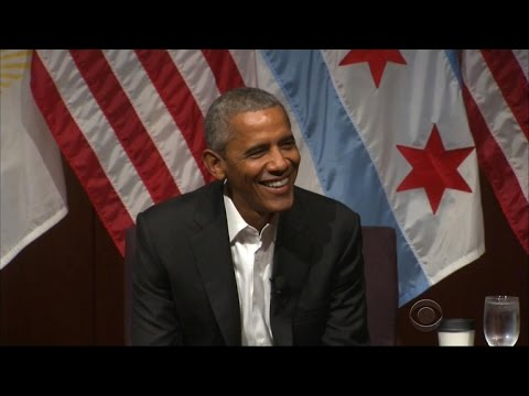 Obama makes first public appearance since leaving office