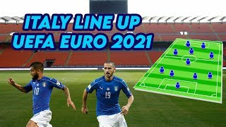 Italy Potential Line Up for UEFA EURO 2021