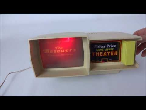 Vintage Fisher Price Movie Viewer Theater & The Rescuers.