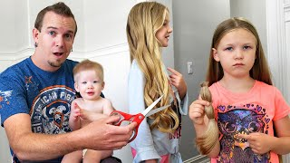 Dad Cuts Everyone's Hair!!! Too Short?