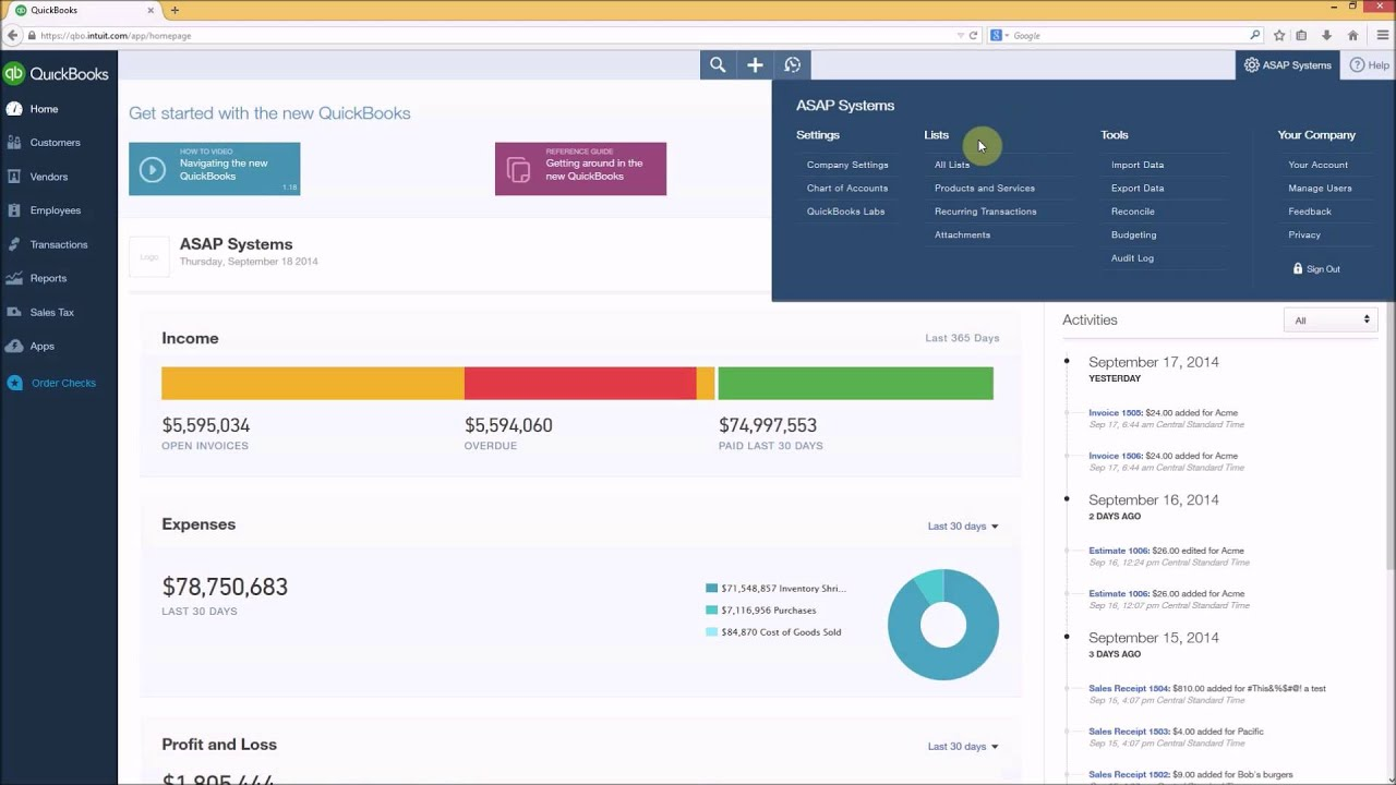 Inventory System - BarCloud and QuickBooks Online Tiers