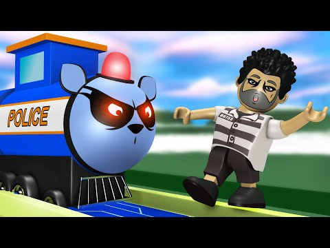 Police Train Catching The Thief - Cartoon Police Car for Kids - Toy Factory Train Cartoon