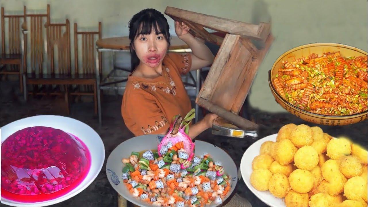 Great Sichuan flavor, tusk potatoes, jelly dragon fruit#甜甜教川味狼牙土豆、果冻火龙果