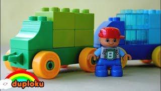 Lego Duplo Main Mobil Mobilan Isi Bensin sambil Belajar Mengenal Warna Duploku