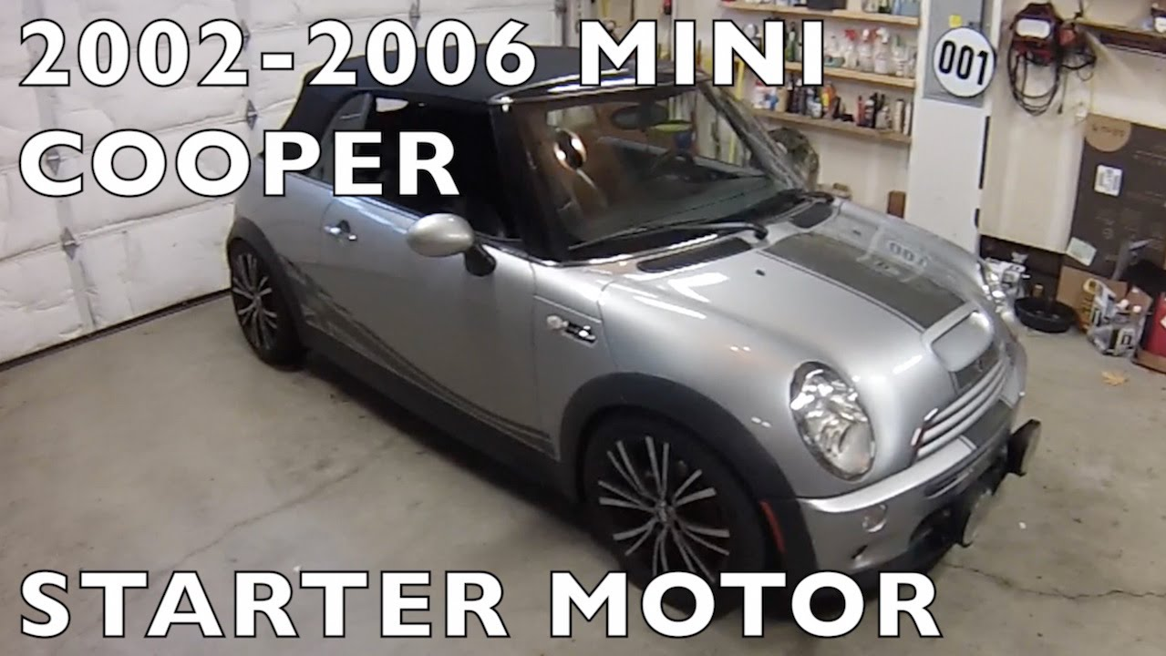 Mini Cooper Replace Starter R53 R50 R52 2002 2006 Youtube Wiring Diagram