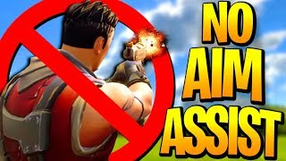 "The ""NO AIM ASSIST"" CHALLENGE On Fortnite: Battle Royale! (I WON)"