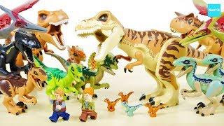 ジュラシックワールド炎の王国に関連したレゴ全11セットの恐竜16体を紹...