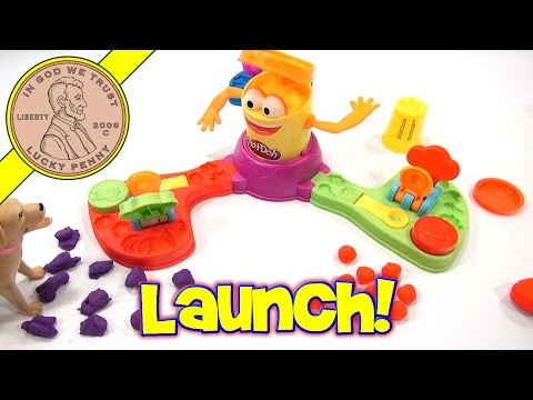 Play Doh Launch Game, Mr. Orange Eats Play-Doh!