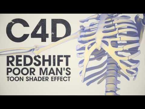 Cinema 4D/ Redshift poor man's toon shader effect