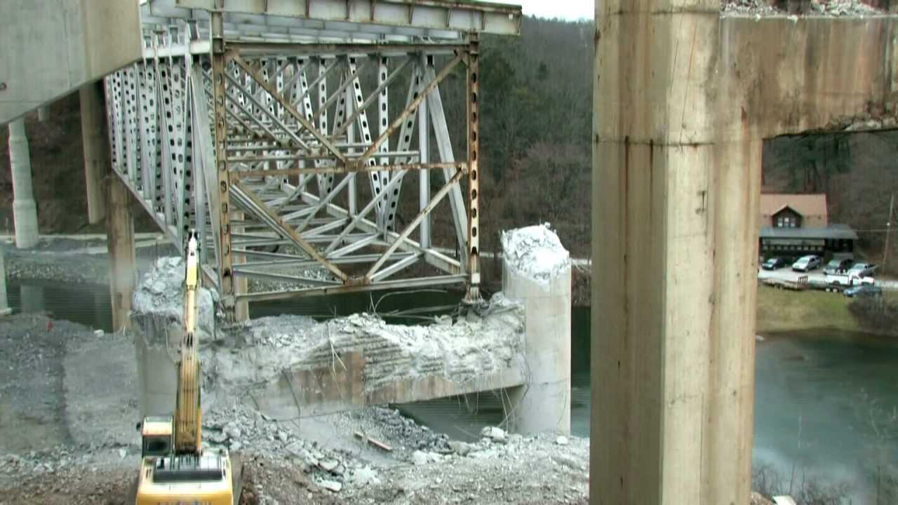 Steel Truss Bridge Demolition Pennsylvania Turnpike