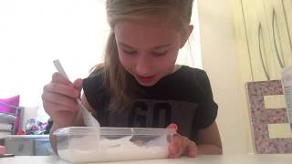 Making slime With contact lense solution