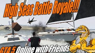 GTA 5 Online Funny Moments - Pirate Battle Royale